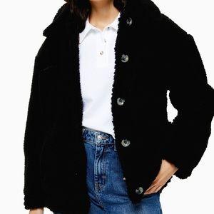 NWT Topshop Petite Shearling Coat